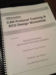 CAN Protocol  ECU Design workshop Handbook